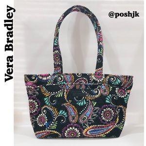 Vera Bradley Handbag Purse Shoulder Bag Black Colorful Paisley Like New